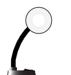 Black bendable lamp vector