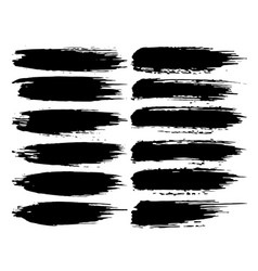 black ink grunge brush strokes vector image