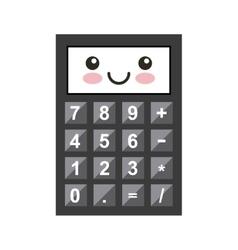 Calculator kawaii character isolated icon vector