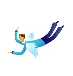 Cartoon man flying vector