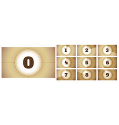cinema film movie countdown timer frames vector image