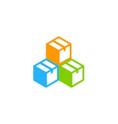 Color box logo icon design vector
