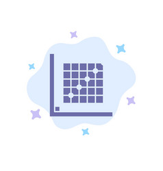 Color correction edit form grid blue icon on vector