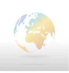 colorful modern globe icon vector image