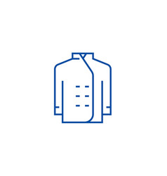 cook dress line icon concept cook dress flat vector image