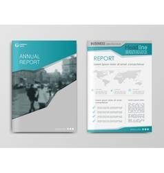 Cover design annual report template vector