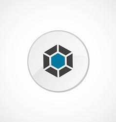 Diamond icon 2 colored vector