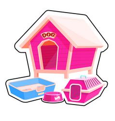dog house sticker vector image