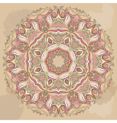 Doily Round Lace Pattern Circle Background vector image