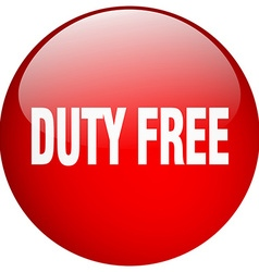 Duty free red round gel isolated push button vector