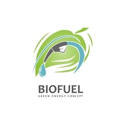 Eco fuel sign vector
