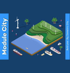 ecological wind power plant vector image