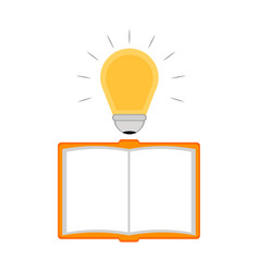 empty notebook with a lightbulb idea icon vector image