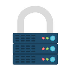 encrypted icon vector image