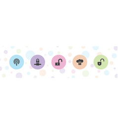 Encryption icons vector