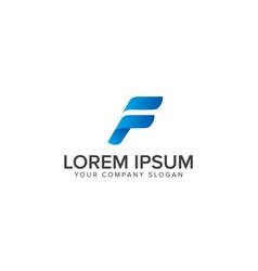 f letter logo abstract design fast sport letter vector image