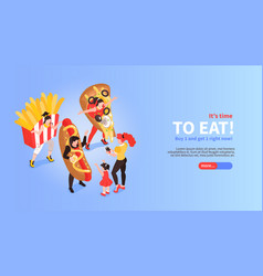 Fast food promotion banner vector