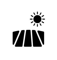 Field Icon Flat vector