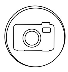 figure camera emblem icon vector image