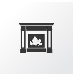 Fire place icon symbol premium quality isolated vector