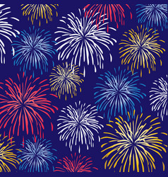 Fireworks background pattern vector
