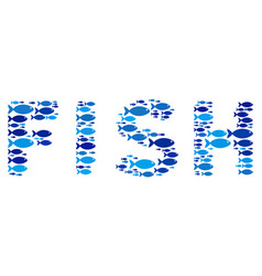 fish fish word composition vector image