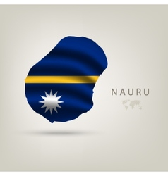 Flag of NAURU as a country with a shadow vector