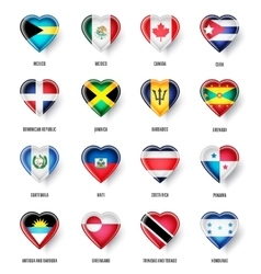 flags countries north america vector image