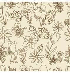 Flowers seamless retro vector