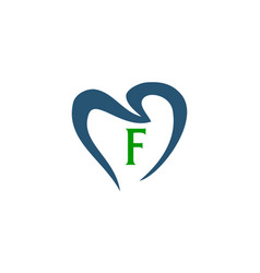 Freedom dental ship health care initial f vector