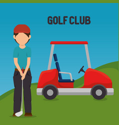 golfer playing in golf club vector image