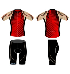 Graphic cycling vest vector