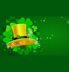 Green st patricks day background with clover vector