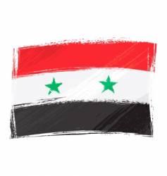 Grunge Syria flag vector