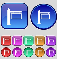 Information Road Sign icon sign A set of twelve vector