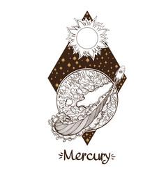 landscape of planet rhombus mercury vector image