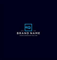 Letter mq with a square design vector