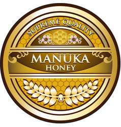 Manuka honey gold label vector