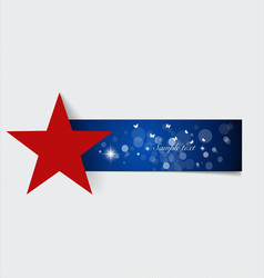 Note paper with red star ready for your message vector image