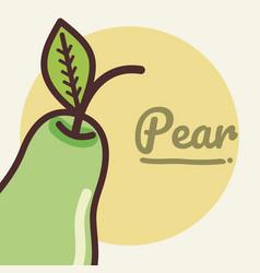 Pear fruit cartoon vector
