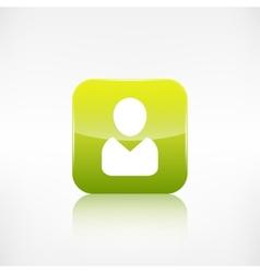 Person icon Application button vector