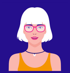 portrait a young beautiful stylish asian vector image