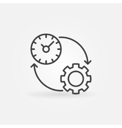 Productivity line icon vector image