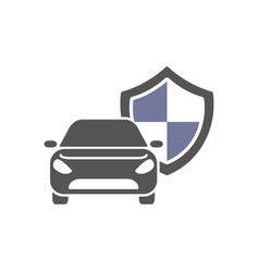 Protect car guard shield safety badge vehicle vector