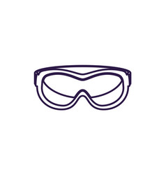 Safety glasses isolated icon vector