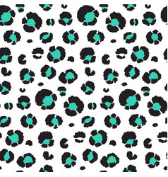 seamless pattern with leopard skin endless vector image