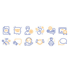 Set business icons such as brand ambassador vector