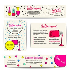 Set of nail polish banners vector