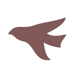 Shadow of bird vector