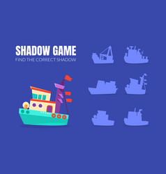 ship and shadows different boats vector image